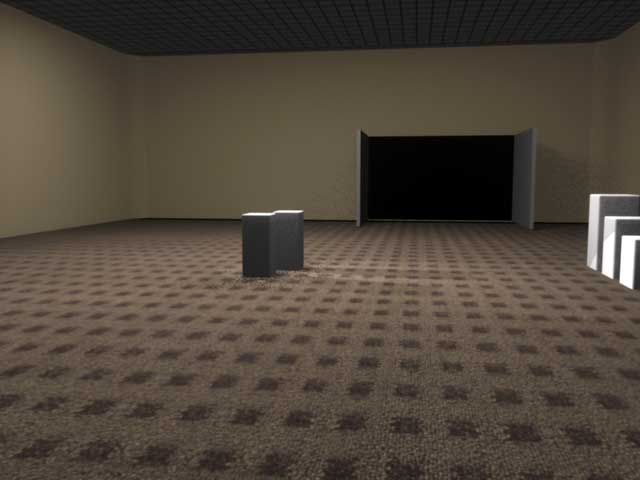 Gallery 3d render with some basic lights and shadows