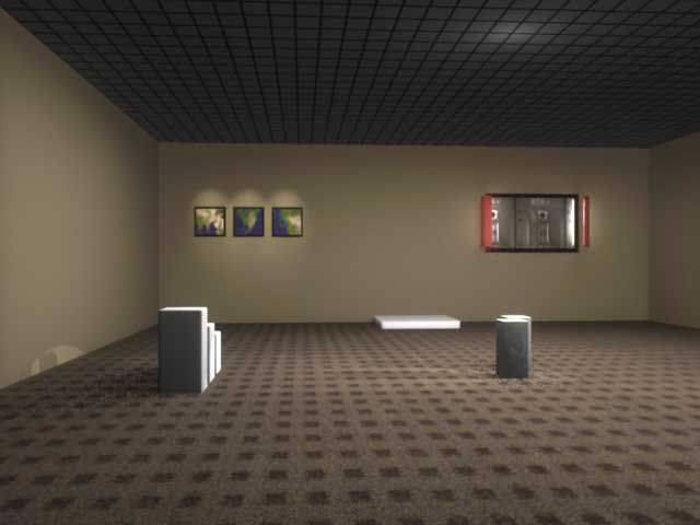 Gallery render with more detailed lights and shadows