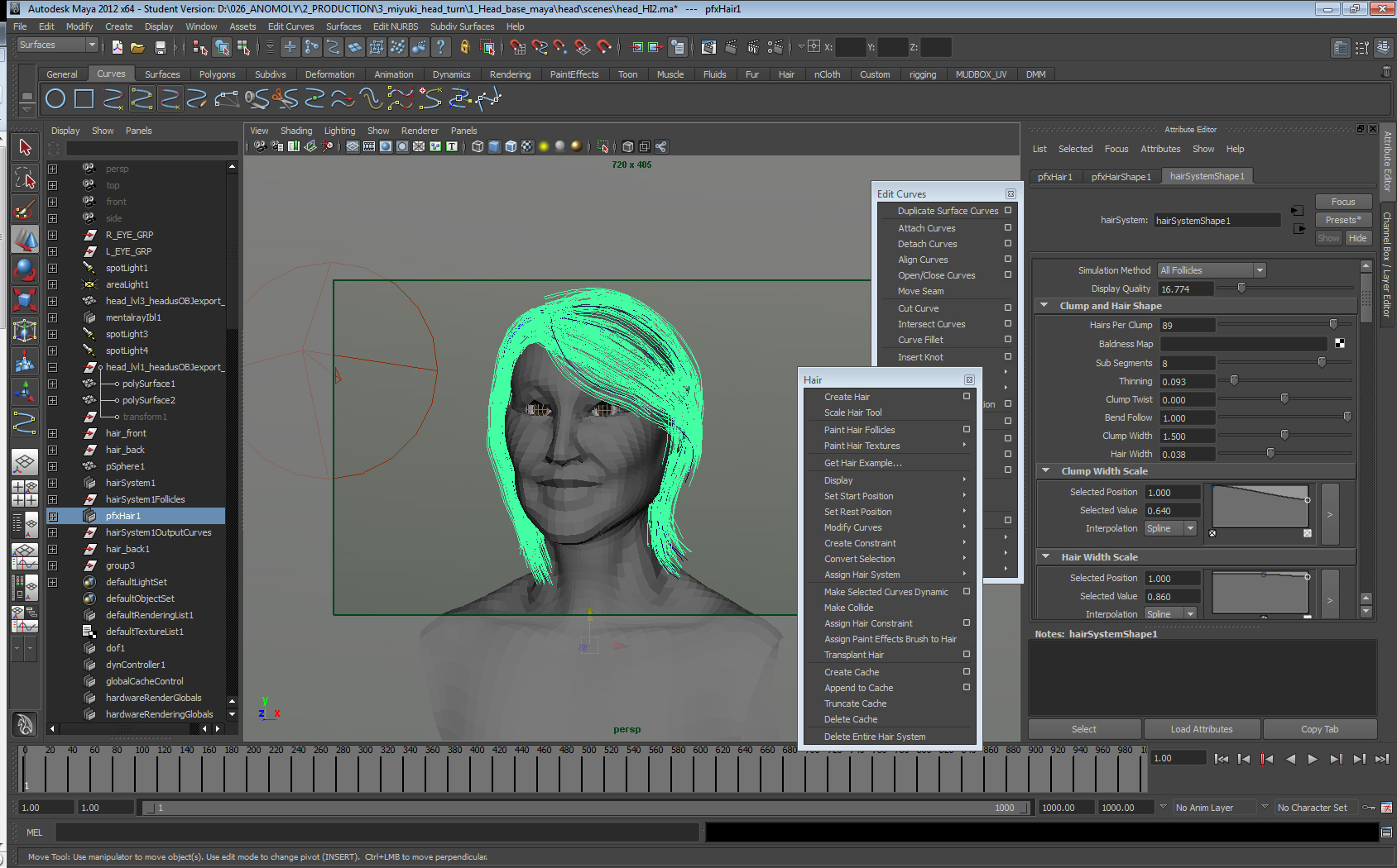 Maya Hair Fur Tests John Chen VFX Artist And Sculptor