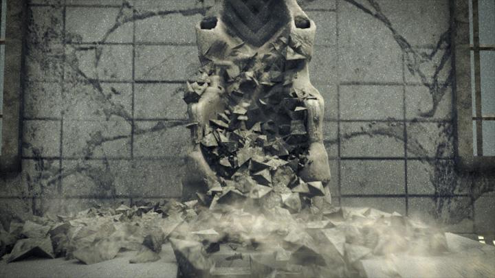 Statue destruction simulation & composite – John Chen VFX artist and